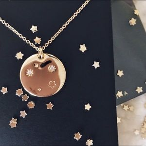 LIBRA Zodiac Constellation Necklace Gold